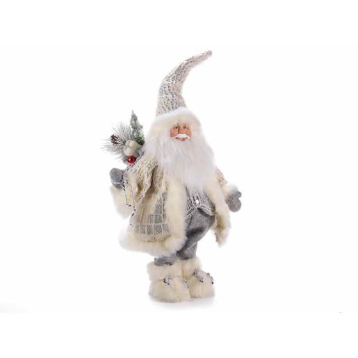 Figurina Mos Craciun Silver