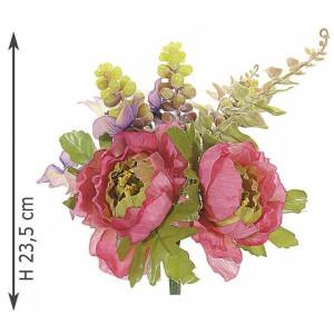 Buchet artificial peonia roz 24 cm