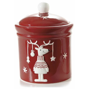Borcan decorativ Reindeer Red