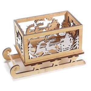Sanie decor lemn Reindeer